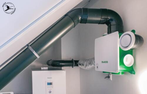 Gebalanceerd ventilatiesysteem met warmte terugwinning